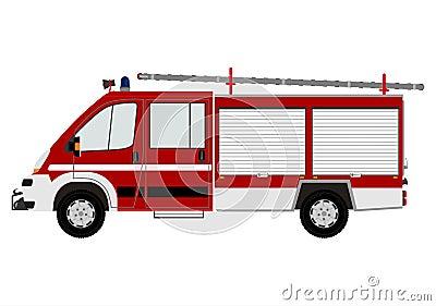 Modern fire engine