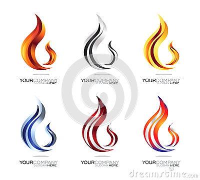 Free Modern Fire - Flame Logo Design Royalty Free Stock Image - 47508476