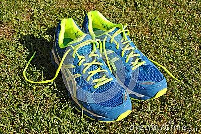 Modern flashy running shoes