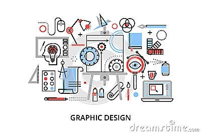 Modern Flat Thin Line Design Vector Illustration, Infographic ...