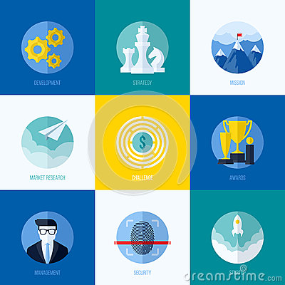 Free Modern Flat Vector Concepts For Websites, Mobile Apps And Printe Royalty Free Stock Photo - 42894345