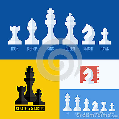 Free Modern Flat Vector Set Of Chess Icons. Chess Pieces Royalty Free Stock Photos - 42894378