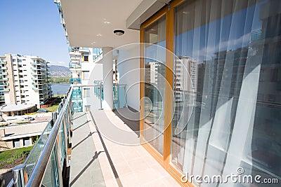 Modern flats balcony