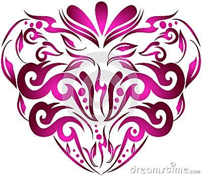 Modern floral heart