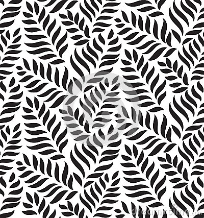 MODERN FLORAL SEAMLESS VECTOR PATTERN. DROP SHAPE BACKGROUND. TRENDY LEAVES MOTIVE Vector Illustration