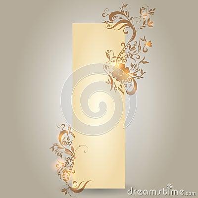 Modern floral vertical banner