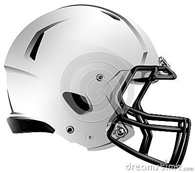 Modern Football Helmet Illustration