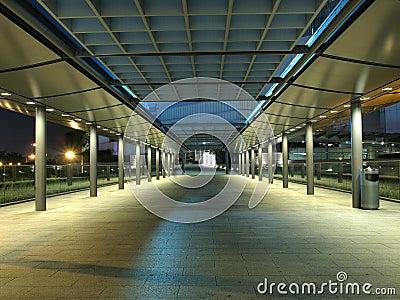 Modern Footbridge at Night