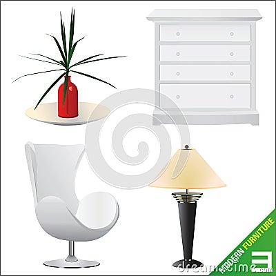Modern furniture 3 vector
