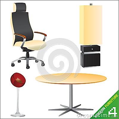 Modern furniture 4 vector