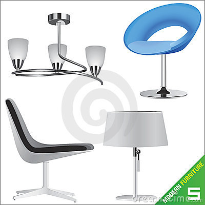 Modern furniture 5 vector
