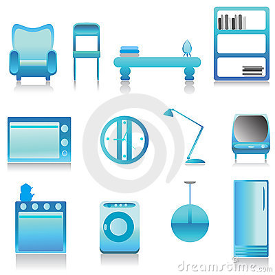 Modern furniture vector 3