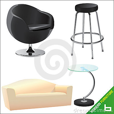 Modern furniture vector 6