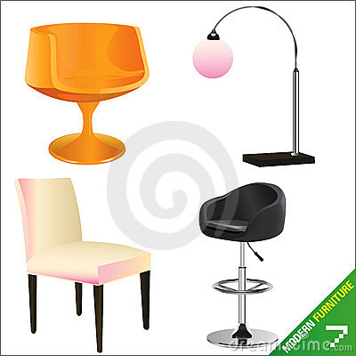 Modern furniture vector 7