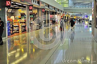 Modern and futuristic international airport Editorial Photo
