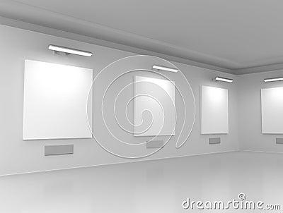 Modern gallery hall
