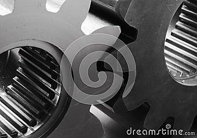 Modern gears in black/white