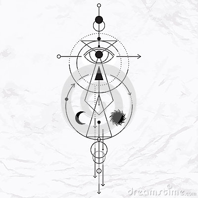 Modern geometric alchemy symbol stock vector image 61808197 - Occult home decor plan ...