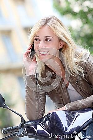 Modern girl using mobile phone