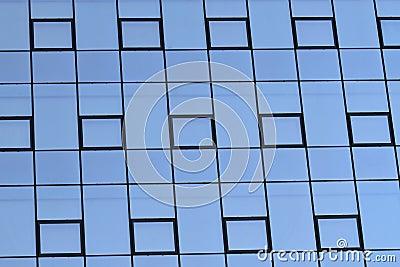 Modern glas facade
