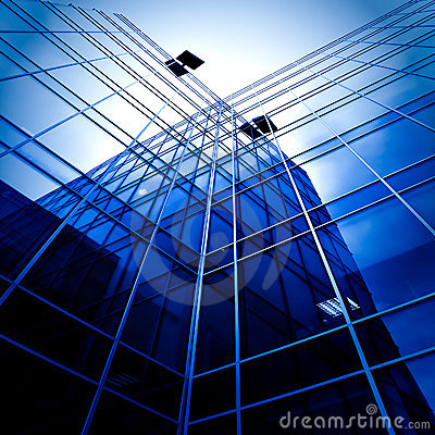 Free Modern Glass Business Center Stock Photography - 16161582
