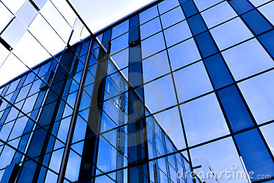 Modern glass business center