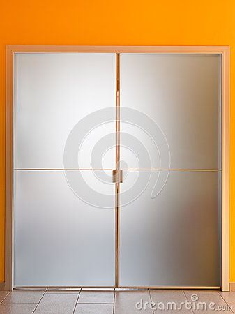 Modern glass door