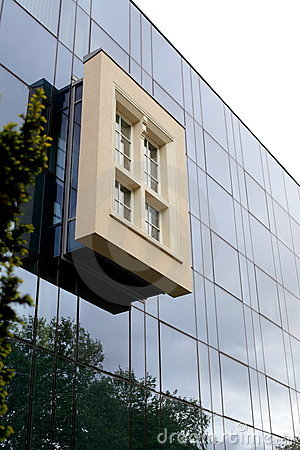 Modern  glass elevation