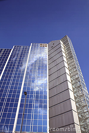 Modern glass facade structure
