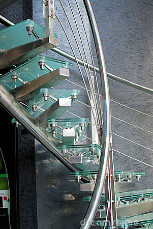 Free Modern Glass Staircase Royalty Free Stock Image - 12861456