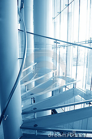 Free Modern Glass Stairs Stock Photo - 19937870