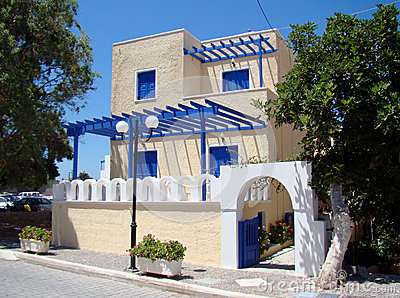 Modern greek style houses .