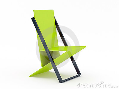 Modern green chair