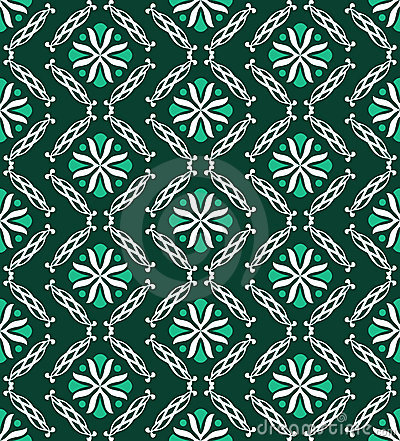 Modern green geometric pattern