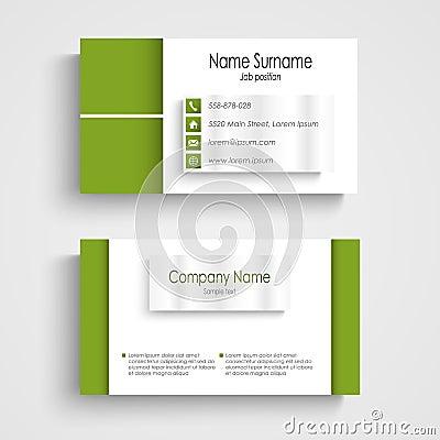 Free Modern Green Light Business Card Template Stock Photos - 36937913