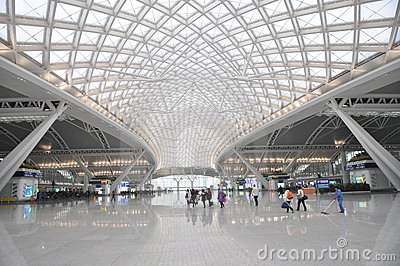 The modern Guangzhou railway station Editorial Photography