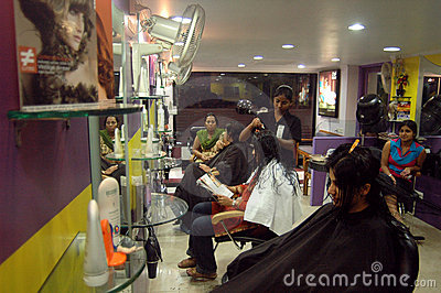 Modern hair dressing saloon Editorial Photo