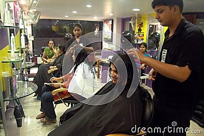 Modern hair dressing saloon Editorial Photo