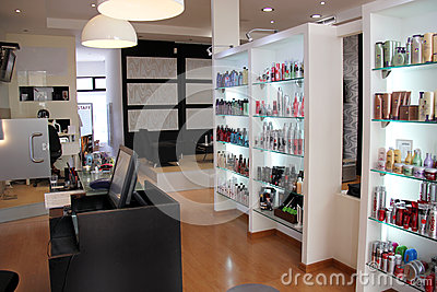 Modern hair salon Editorial Stock Photo