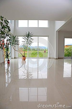 Modern hall.