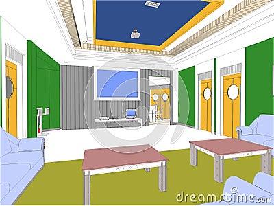Modern Hall Vector 06