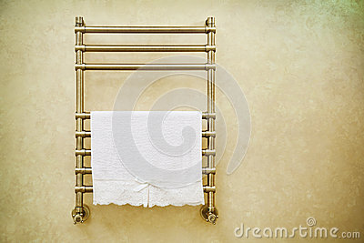 Modern heated towel rail