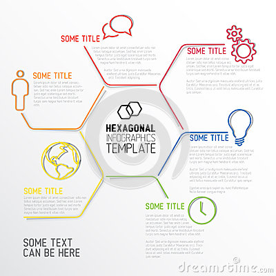 Infographic Ideas infographic lines : Modern Infographic Report Template Made From Lines Stock Vector ...