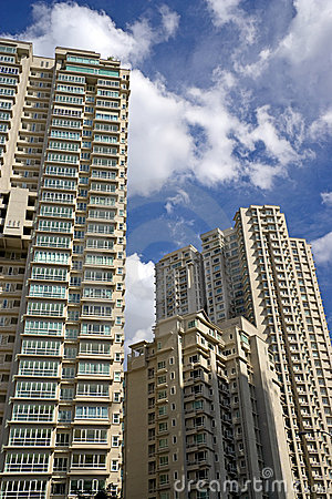 Modern Hi-Rise Apartments Stock Photo - Image: 6385740