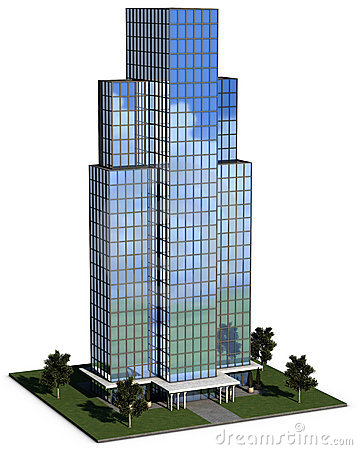 Free Modern Hi-rise Corporate Office Building Royalty Free Stock Photos - 9420828