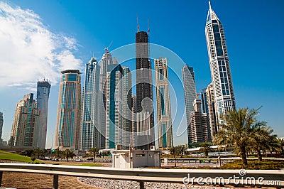 Modern high-rise buildings