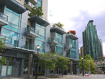 Modern high rises at Vancouver downtown