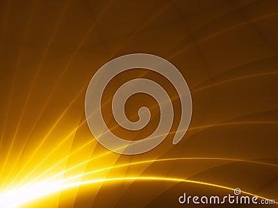 Modern hitech design - gold rays