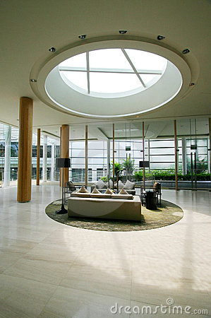 Free Modern Holiday Resorts Foyer Interior Royalty Free Stock Images - 5385659