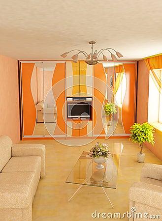 Modern home 3d interior